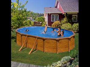 500 x 300 x 132 cm kitprov5083w 132 cm piscine paroi for Piscine bois 2x3