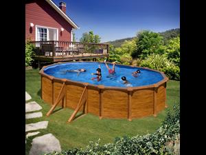 500 x 300 x 132 cm kitprov508wo 132 cm piscine paroi for Piscine bois 2x3